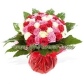 Red Pink & White Roses