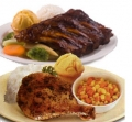 Chicken and Rib Plate