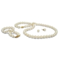 White Freshwater 3-Piece Pearl Set