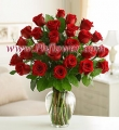 Two Dozen Premium Red Roses in a vase