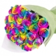 Rainbow Roses Round  Bouquet