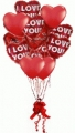 12 Romantic Heart Balloons