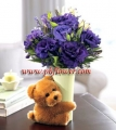 Blue Rose with Bear