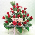24 Red Rose in Basket