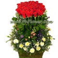 100 Rose Basket