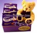 Cute bear with Cadbury