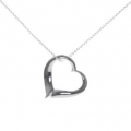 Open Heart Cable Chain Necklace
