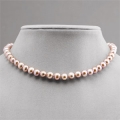 14K 8-9mm Freshwater Pink Pearl Necklace