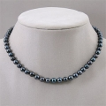 Black Akoya Pearl Necklace
