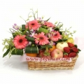 Pink Gerbera With Fruits